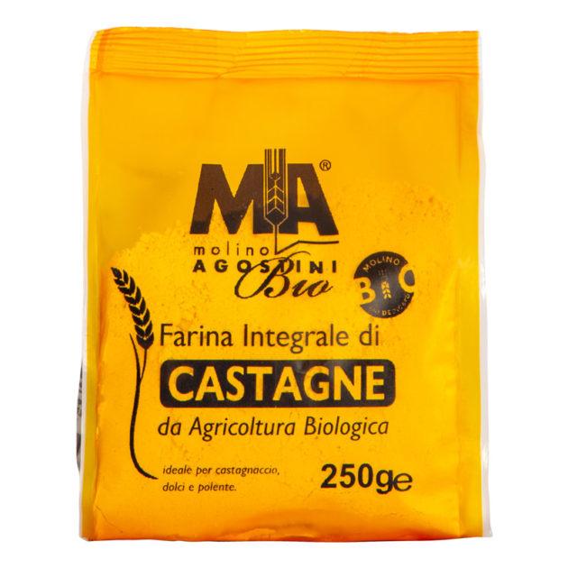 Farina di Castagne Integrale Biologica - per castagnaccio, dolci e polenta