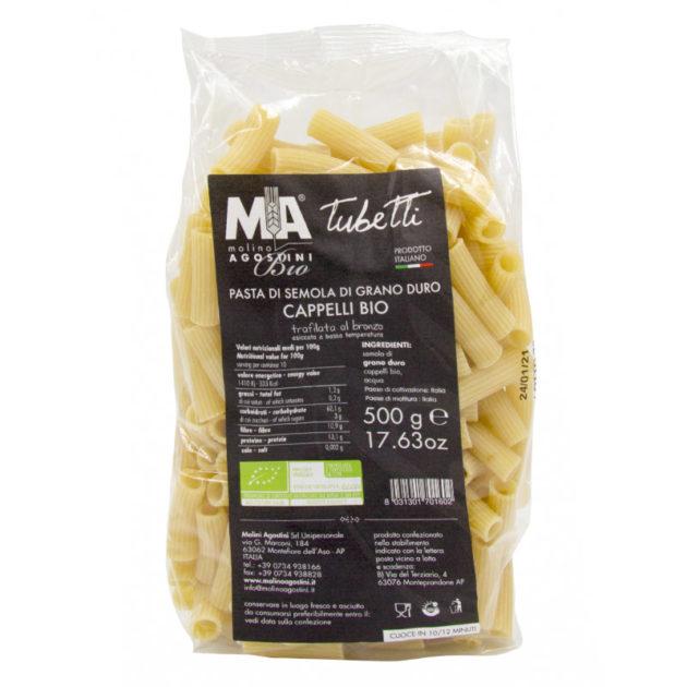 Tubetti - Pasta di grano duro Senatore Cappelli Akrux Biologica