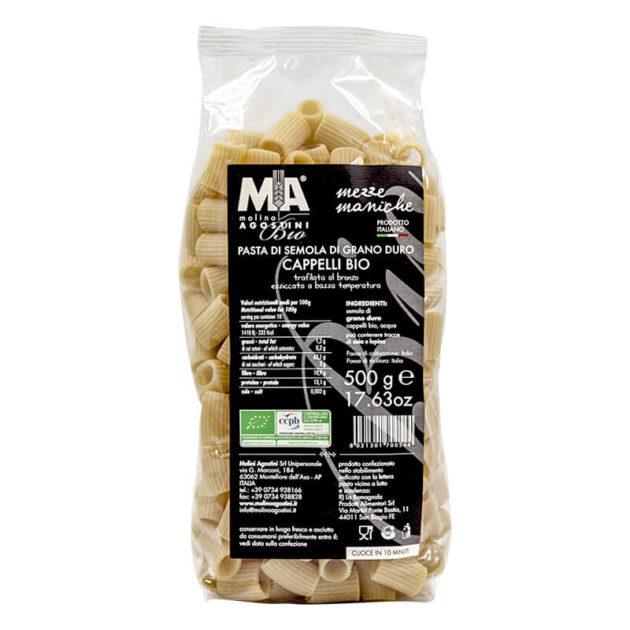 Pasta - Mezze Maniche di grano duro Senatore Cappelli Akrux Bio